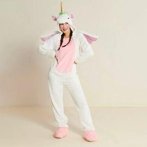 Adult Unicorn Jumpsuit Costume Size L